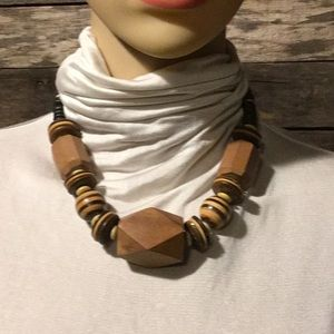 Jewelry - 💰BOGO FREE Chunky Wooden Necklace
